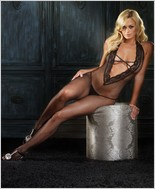 Leg Avenue® Halter Fishnet Bodystocking LA-89041