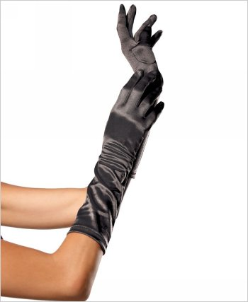 Leg Avenue® Satin Elbow Lenght Gloves LAS-8B