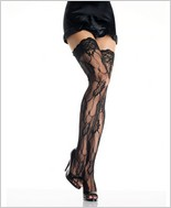 Leg Avenue® Romantic Lace Thigh Highs With Lace Top LA-9215
