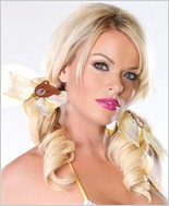 Leg Avenue® Goldilocks Gingham And Lace Hair Bows LA-A1049