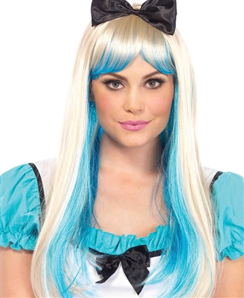 Alice Two-Toned Wig with Attached Bow LA-A2771
