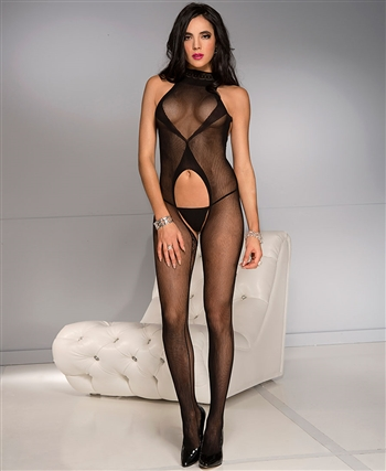 Belly Cut Out Bodystocking ML-1033