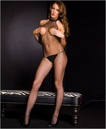 Fishnet Open Bust Bodystocking ML-1072
