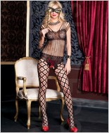 Shredded Strings Lace Bodystocking ML-1093