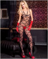 Criss Cross Design Bodystocking ML-1111