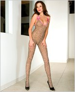 Leopard Print Bodystocking ML-1112