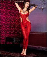 Snake Print Bodystocking ML-1122