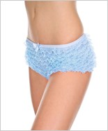 Baby Blue Ruffle Lace Tanga Short ML-115-Baby-Blue