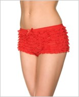 Red Ruffle Lace Tanga Short ML-115-Red