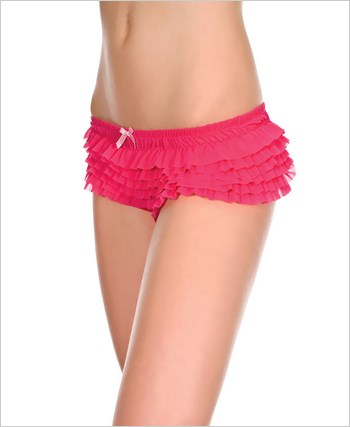 Chiffon Ruffle Trim Tanga Short ML-117