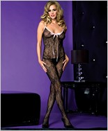 Music Legs® Lace Crotchless Bodystocking ML-1285