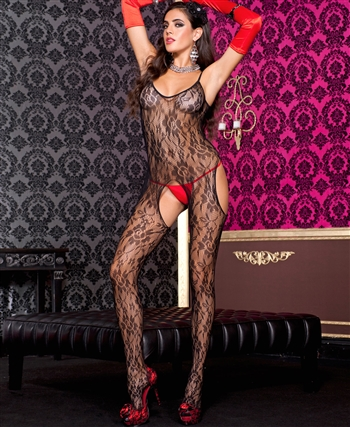 Music Legs® Lace Suspender Bodystocking ML-1314Q
