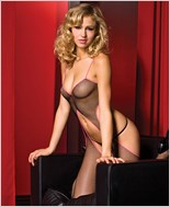 Suspender Style Bodystocking ML-1327