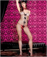 Diamond Net Bodystocking ML-1353
