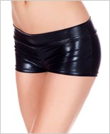 Black Banded Metallic Shorts ML-141-Black