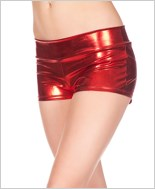 Red Banded Metallic Shorts ML-141-Red