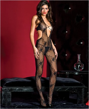 Cut-Out Back Bodystocking ML-1413