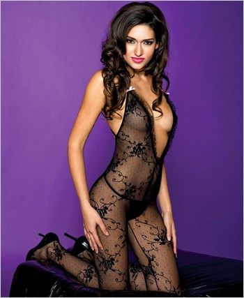 Open Back Lace Bodystocking ML-1414