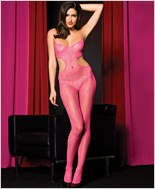 Pink Seamless Bodystocking ML-1415