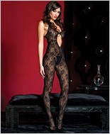 Keyhole Lace Bodystocking ML-1420