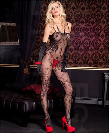 Floral Bouquet Lace Bodystocking ML-1444