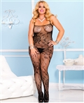 Plus Size Lace Crotchless Bodystocking ML-1444Q
