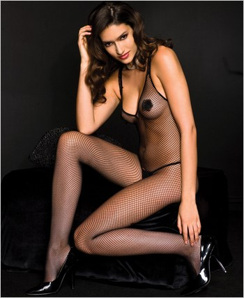 Fishnet Bodystocking With Pasties ML-1460
