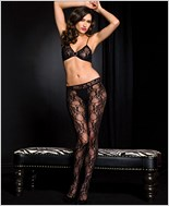 Open Front Lace Bodystocking ML-1470