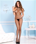 Diamond Net Halter Neck Crotchless Bodystocking ML-1758