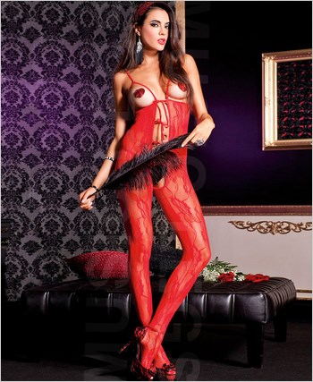 Peek-A-Boo Lace Bodystocking ML-1764