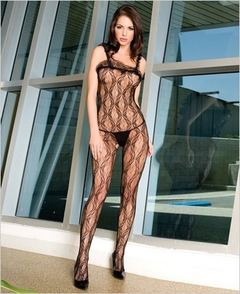 Music Legs® Lace Bodystocking ML-1969