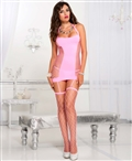 Halter Neck Garter Dress with Attached Stockings ML-2470