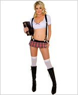 Music Legs® Drop Out School Girl Sexy Adult Costume ML-25010