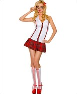 Tartan Stripe School Girl Outfit ML-25068