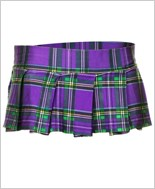 Purple Mini Plaid Skirt ML-25074-Purple