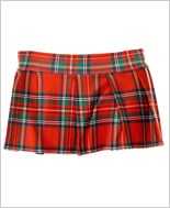 Red Mini Plaid Skirt ML-25074-Red