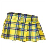 Yellow Mini Plaid Skirt ML-25074-Yellow