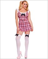 Plus Size Ruffle School Girl Costume ML-25080Q