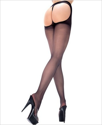 Music Legs® Lycra Sheer Thong Back Pantyhose ML-337