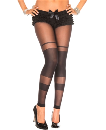 Semi Transparent Spandex Leggings ML-35011
