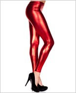 Red Metallic Footless Legging ML-35110-Red