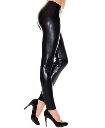 Black Liquid Shiny Leggings