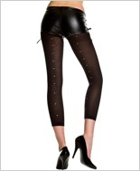 Rhinestone Back Seam Leggings ML-35116