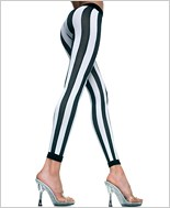 Opaque Vertical Stripes Leggings