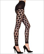 Holes And Threads Stirrup Leggings