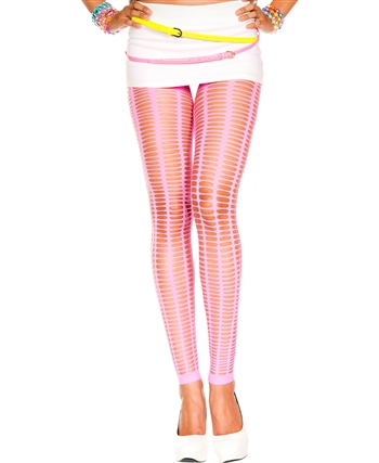 Oval Net Spandex Leggings ML-35442