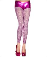 Cheetah Print Footless Tights