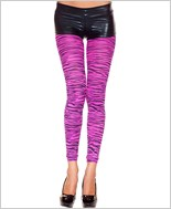 Hot Pink Zebra Print Footless Tights
