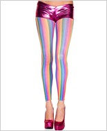 Rainbow Vertical Stripes Leggings