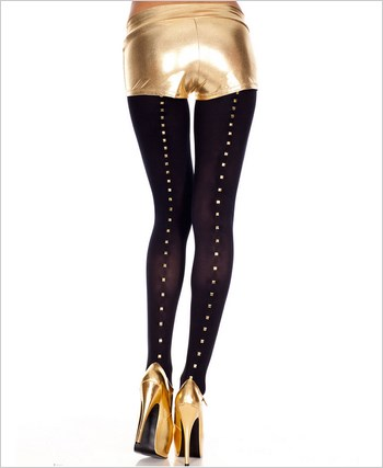 Pantyhose With Studs Backseam